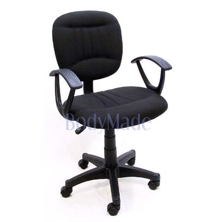 Fabric Armrests (Bodymade Fabric Task Chair with Armrests, Black)