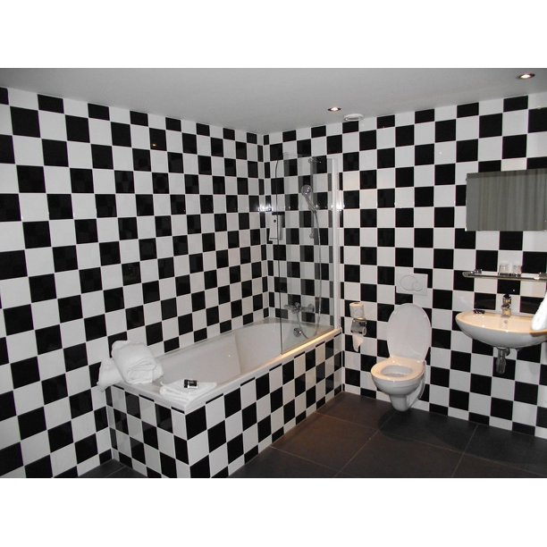 Black White Bathroom Toilet 20 Inch By 30 Inch Laminated Poster With Bright Colors And Vivid Imagery Fits Perfectly In Many Attractive Frames Walmart Com Walmart Com