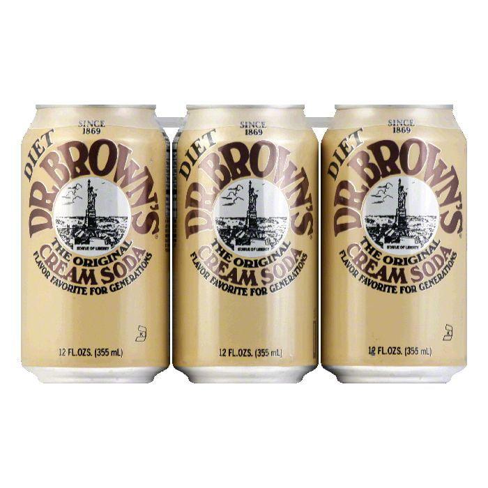 Dr. Brown's Dr. Brown Soda Cream Soda Diet 6 pack, 72 OZ ...