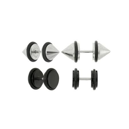 Body Magic 316L Steel 2-Piece Fake Spike Plug Set ()