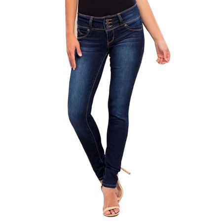 Womens Wannabettabutt 3 Button Mid Rise Skinny Jeans Pants P597146