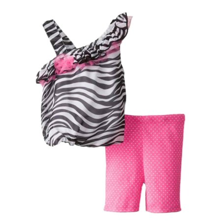 Baby Glam Infant Girls Zebra Print Bubble Top Pink Leggings Outfit 2 PC Set](Zebra Outfit)