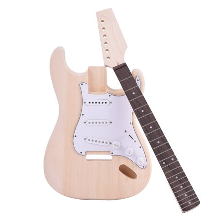 Muslady ST Style Electric Guitar Basswood Body Maple Neck Rosewood Fingerboard DIY Kit Set