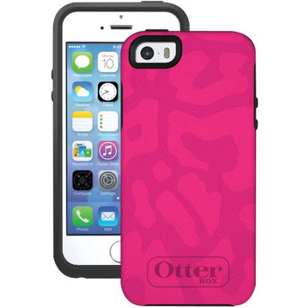 Otterbox Symmetry Series Case For Iphone Se 5 5S Pink And Black   Cover Oem