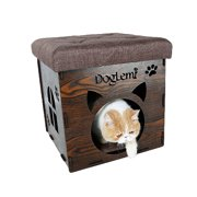 Premium MDF Combination Cat Bed and Ottoman Multifunctional Pet House Footstool Rest Chair DOGLEMI Authorized