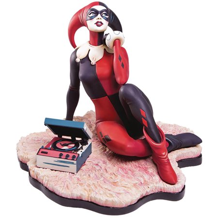 DC Collectible 7 Inch Statue Figure Batman Series - Harley Quinn Waiting For My J Man - image 1 de 1