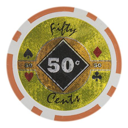 Black Diamond 14g Poker Chips, 50-cent Heavy Weight Clay Composite, 50-pack 300 Clay Composite Chips