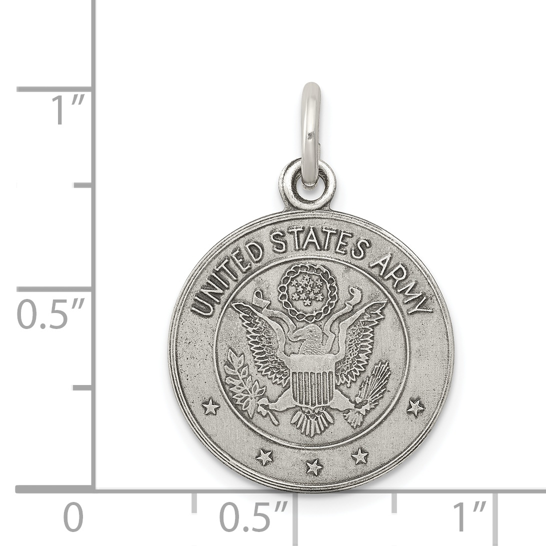 925 Sterling Silver Charm United States Army