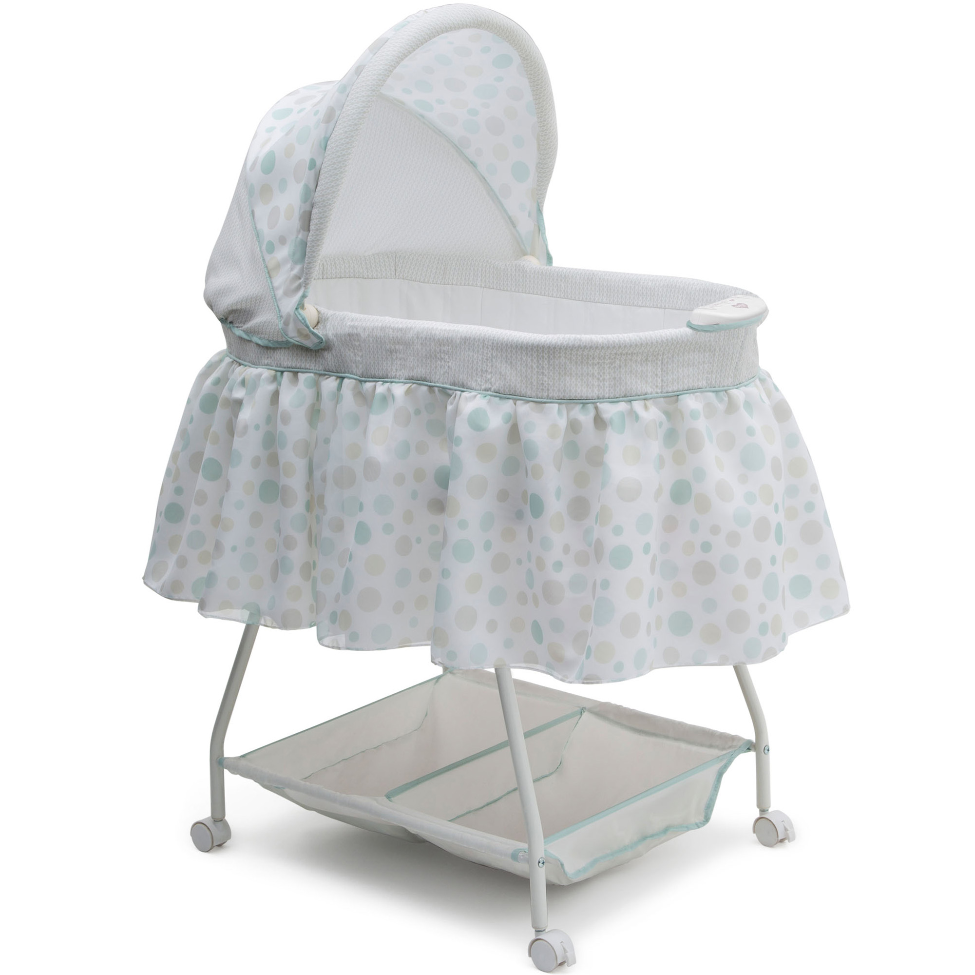 Click here to buy Delta Children Ultimate Sweet Beginnings Bassinet, Lots A Dots by Delta Children.