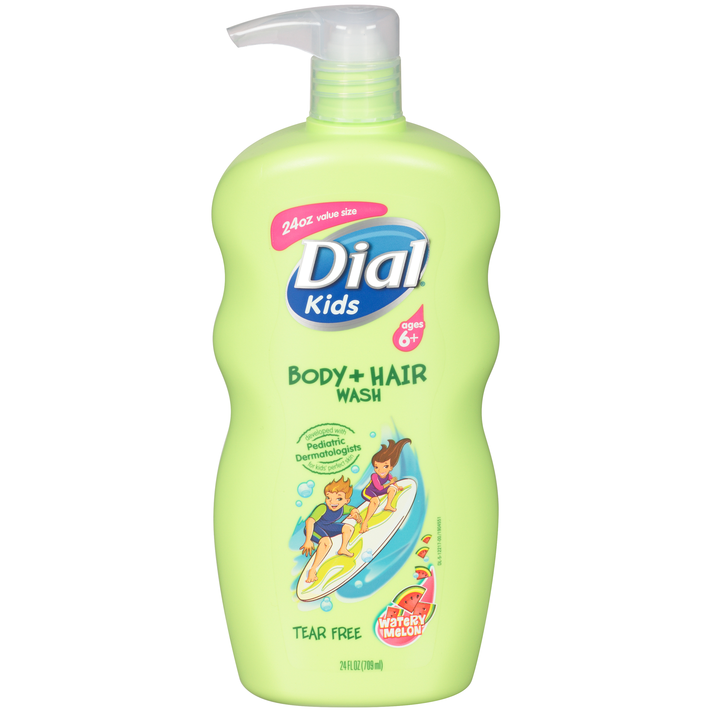 Dial Kids Body + Hair Wash, Watery Melon, 24 Ounce