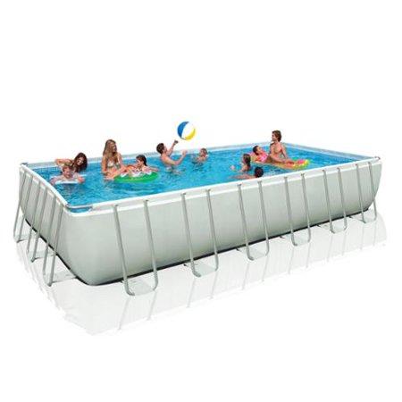 Intex 24 39 x 12 39 x 52 rectangular ultra frame swimming - Ultra frame rectangular swimming pool ...