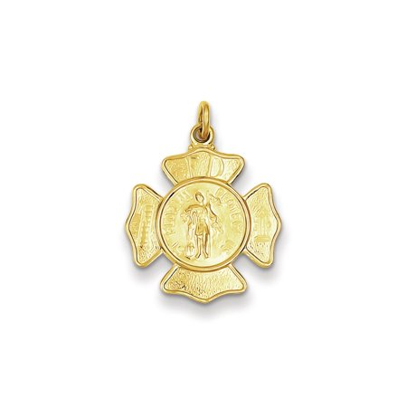 925 Yellow Gold Flashed Silver St  Michael Medal Charm Pendant   25Mm