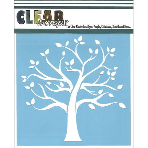 "Clear Scraps Stencils, 12"" x 12"", Family Tree"