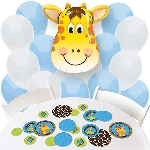 Giraffe Boy - Confetti and Balloon Party Decorations - Combo Kit