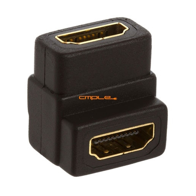 Cmple HDMI to HDMI Coupler Female - 90 Degree Gold Plated