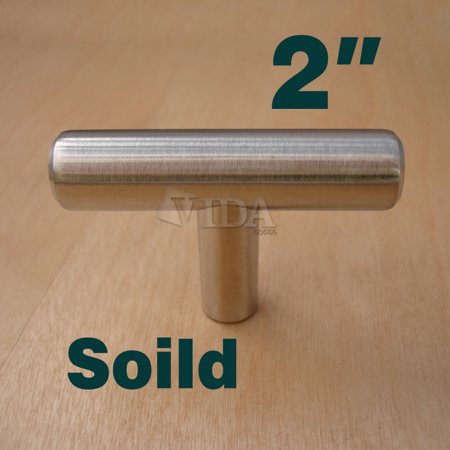 "Vidagoods 2"" Stainless Steel Kitchen Cabinet and Drawer T Bar Pull Handles (More size/styles available)"