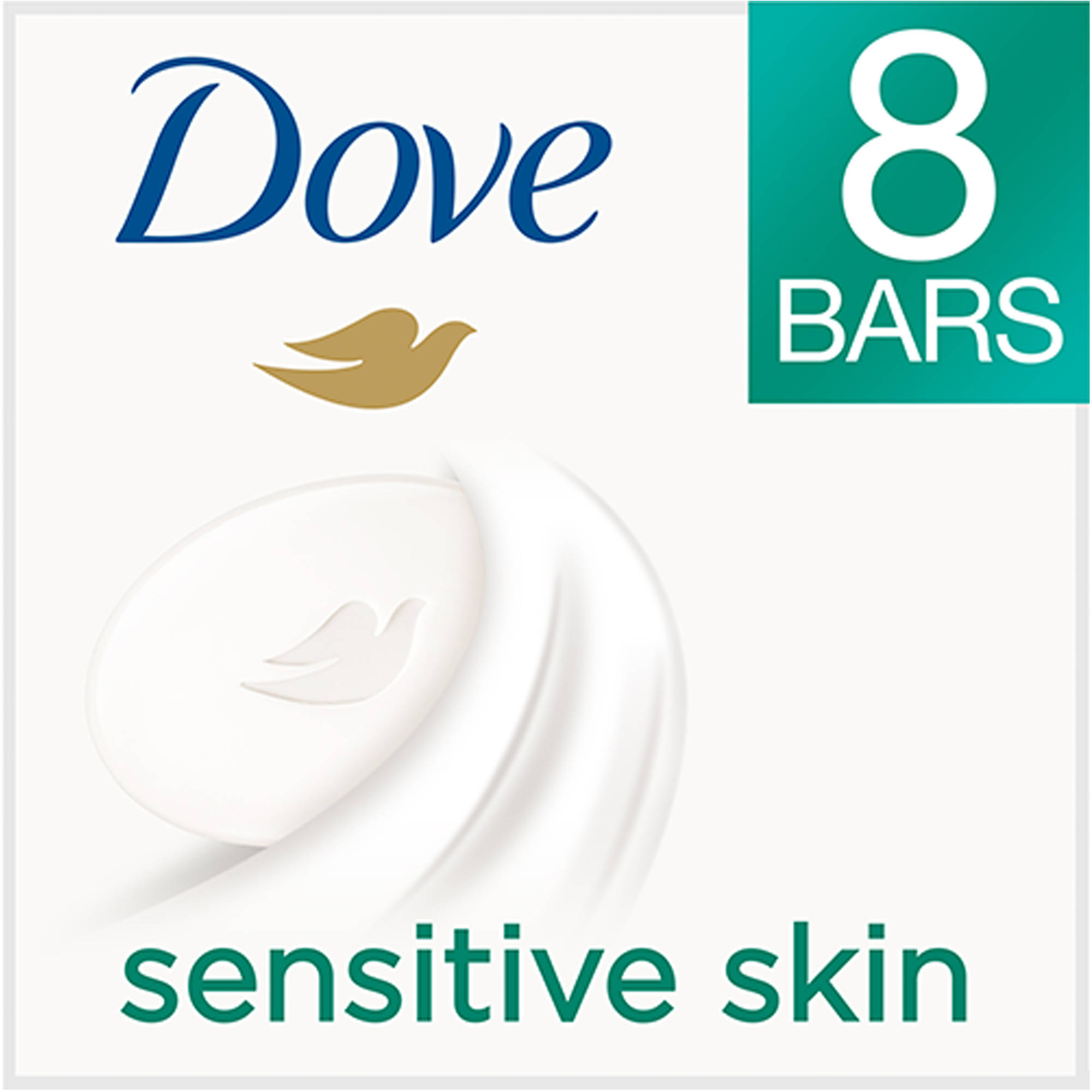 ***Do Not Publish***Dove Sensitive Skin Beauty Bar, 4 oz, 8 Count
