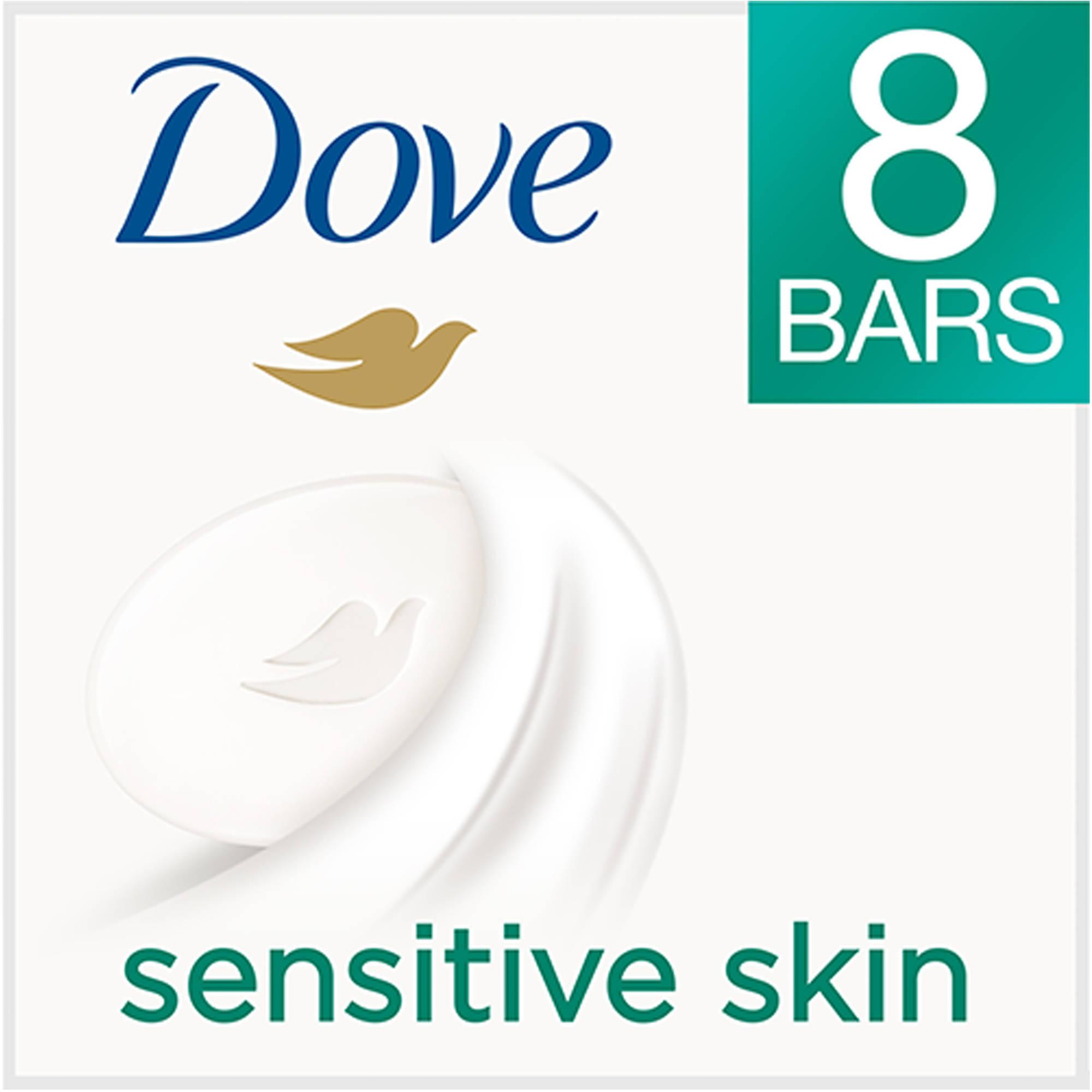 ***Do Not Publish***Dove Sensitive Skin Beauty Bar, 4 oz, 8 Count
