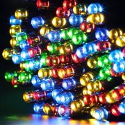 qedertek christmas lights solar string lights 72ft 200 led fairy lights 8 modes ambiance lighting for - Led Multicolor Christmas Lights