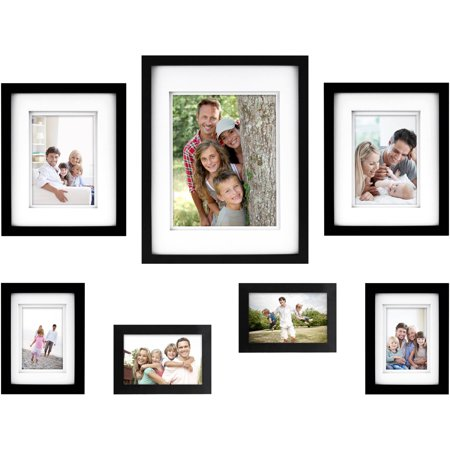 7-Piece Thin Gallery Wall Frame Set, Available in Multiple Colors - Frames In Bulk