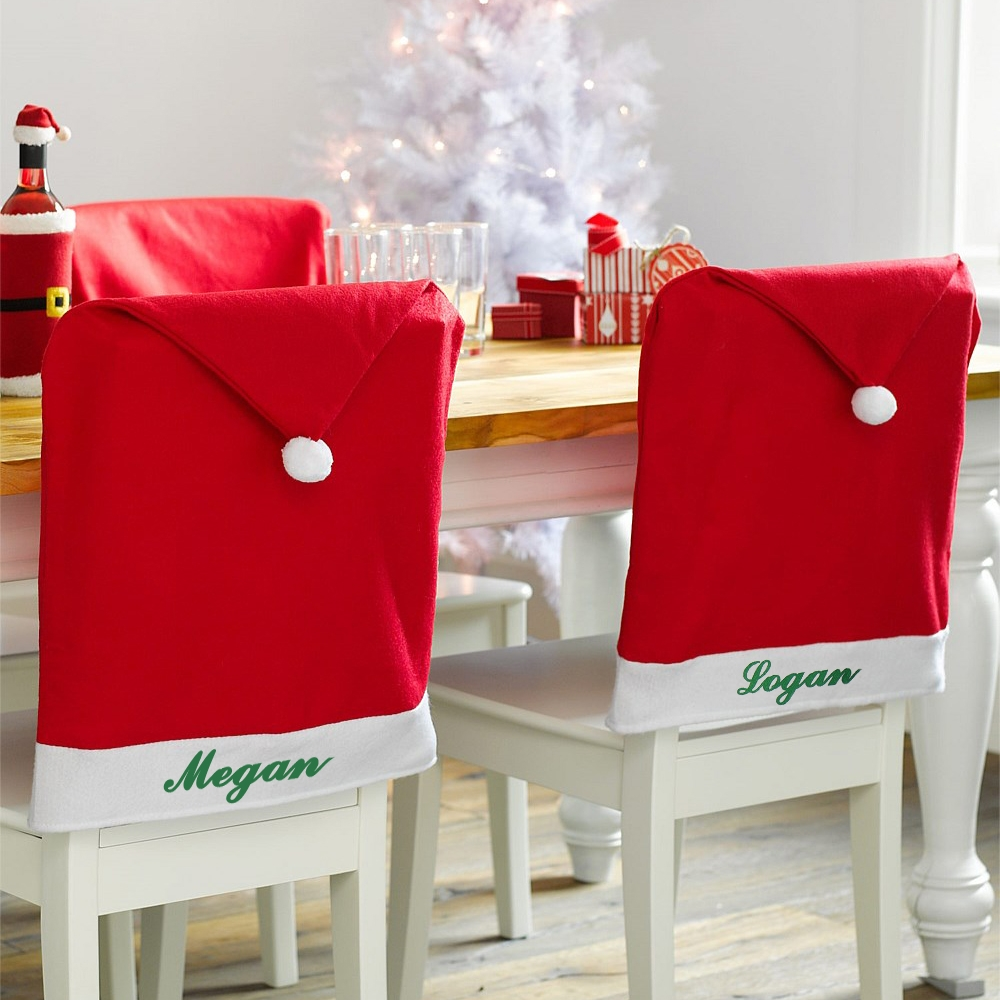 Personalized Decor Santa Hat Chair Cover