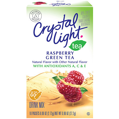 Crystal Light On The Go Antioxidant Raspberry Green Tea Drink Mix, 10 Ct