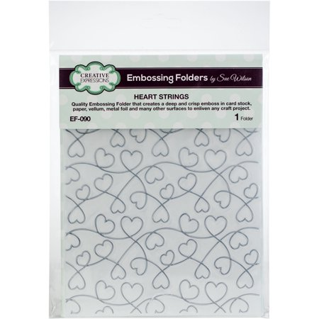 Creative Expressions Embossing Folder By Sue Wilson-Heart Strings - image 1 de 1