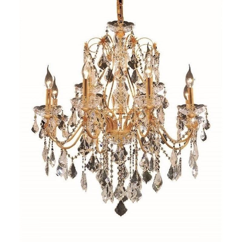 """Elegant Lighting St. Francis 28"""" 12 Light Spectra Crystal Chandelier - image 1 de 1"""