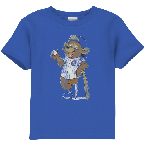 Chicago Cubs Toddler Distressed Mascot T-Shirt - Royal Blue