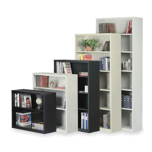 Unassembled, Boltless Stationary Bookcase, Black , 2HFG5