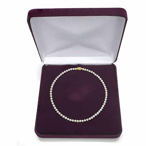 "Ultra-Luster 11-12mm White Genuine Cultured Freshwater Pearl 18"" Necklace and 14kt Yellow Gold Filigree Clasp by Jacqueline's Collection"