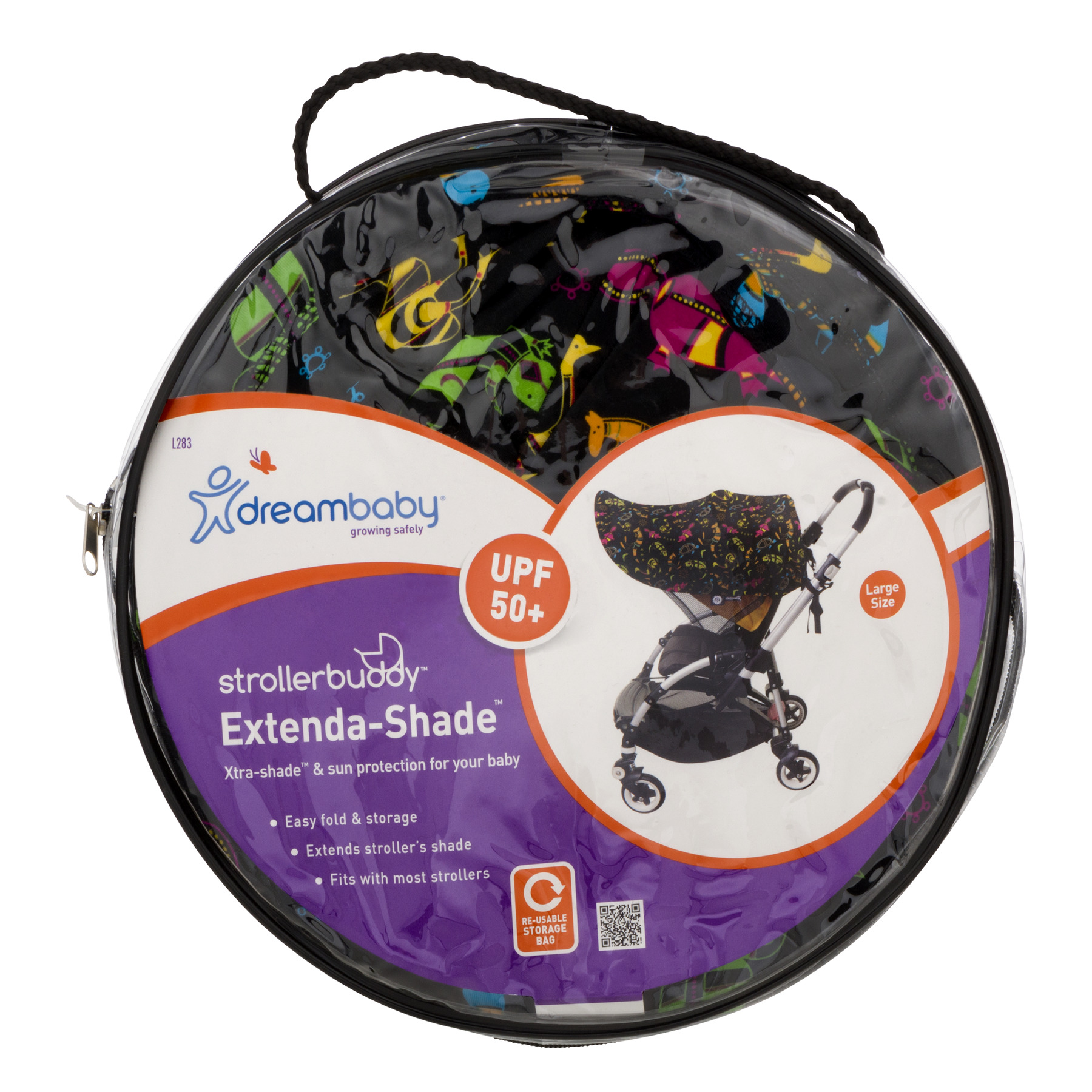 Dreambaby Stroller Buddy Extenda - Shade UPF 50+, Large, 1.0 CT