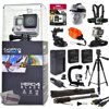 GoPro Hero 4 HERO4 Black CHDHX-401 with 32GB Card + Head/Chest Mount + Suction Cup + Floaty Strap + Wrist Glove + 60? Tripod + Two Batteries + Travel Charger + Opteka X-Grip + 67  Monopod + More