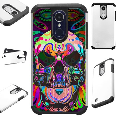 FusionGuard Phone Case Cover For LG Stylo 4 | Stylo 4 Plus | Q Stylus Q Plus Q Alpha (Skull Tattoo)