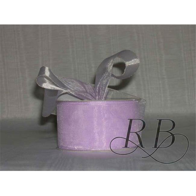 Ribbon Bazaar 2597 1.5 in. Sheer Organza Ribbon, Orchid - 100 Yards