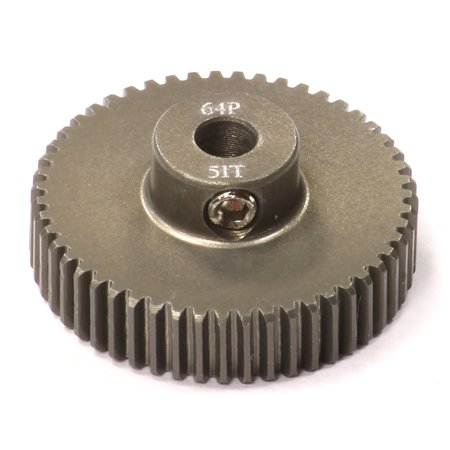 - Integy RC Toy Model Hop-ups C24296 Billet Machined Hard Anodized Aluminum 64 Pitch Pinion 51 Teeth for 0.125 Shaft