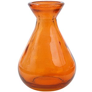 Couronne Teardrop Recycled Glass Vase, G5423, 4.25 inches tall, 5.1 Ounce