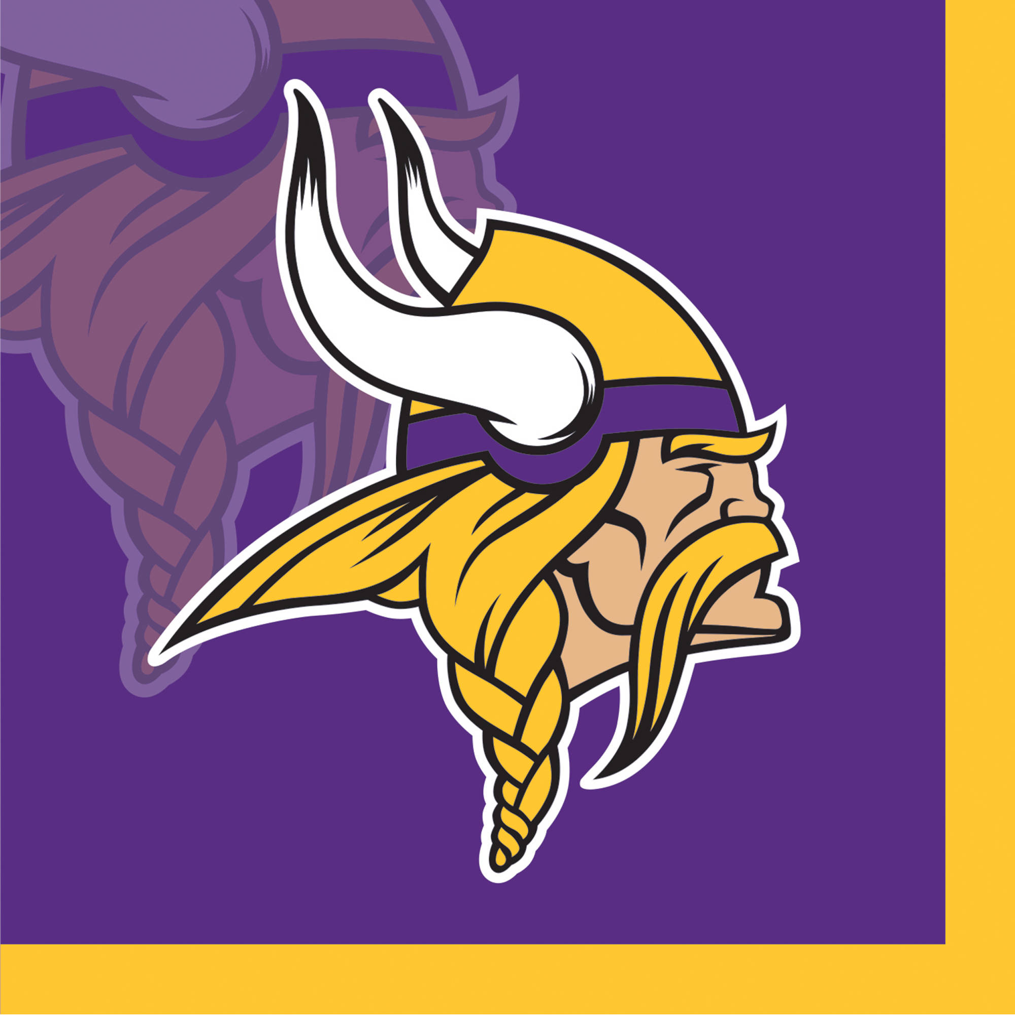 Minnesota Vikings Beverage Napkins, 16-Pack