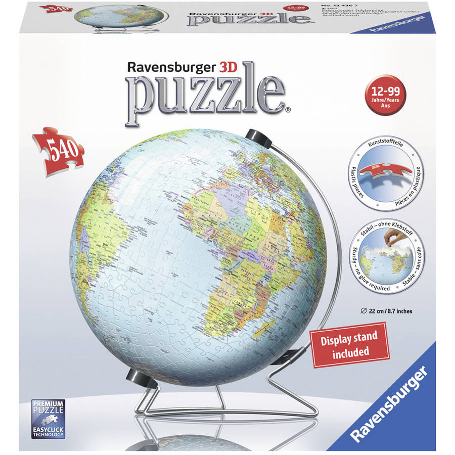 Ravensburger The Earth 3D World Globe Puzzle: 540 Pcs by Ravensburger