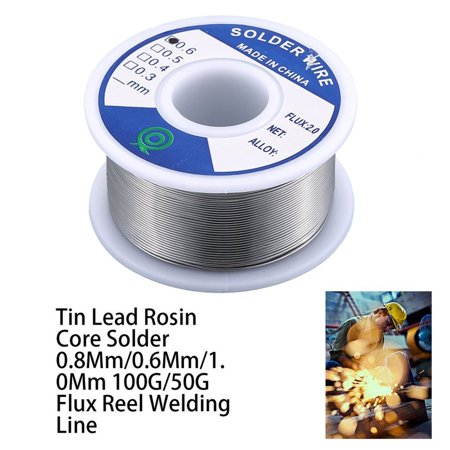 Tin Lead Rosin Core Solder 0.8Mm/0.6Mm/1.0Mm 100G/50G Flux Reel Welding Line - image 7 of 9