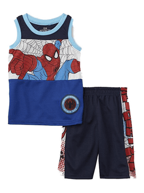 Disney Toddler Boys Marvel Spiderman Baby Outfit Spidey Tank & Gym Shorts Set