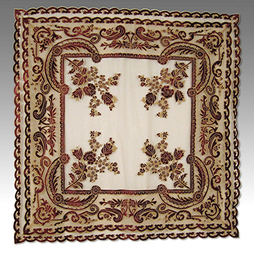 Debage Inc. Tudor Appliqu  Velvet Table Cover