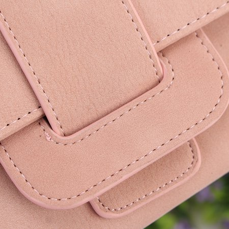 Women Fashion PU Leather Phone Wallet Bag Trifold Button handBag Card Holder for for under 5inch Cellphone - image 8 de 9