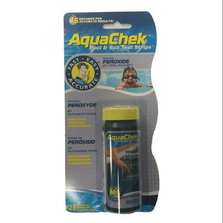 Aquachek 562249 Swimming Pool Spa Peroxide Alkalinity Ph Test Strips 25 Strips
