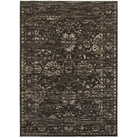 LR Resources Soft Shag Brown/Dark Beige Indoor Area Rug(5' x (Lr Resources Shapes)