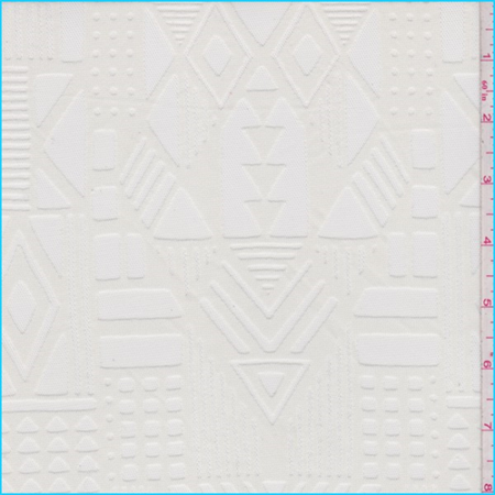 Whisper White Geometric Burnout Mesh, Fabric By the Yard (Burnout Fabric)