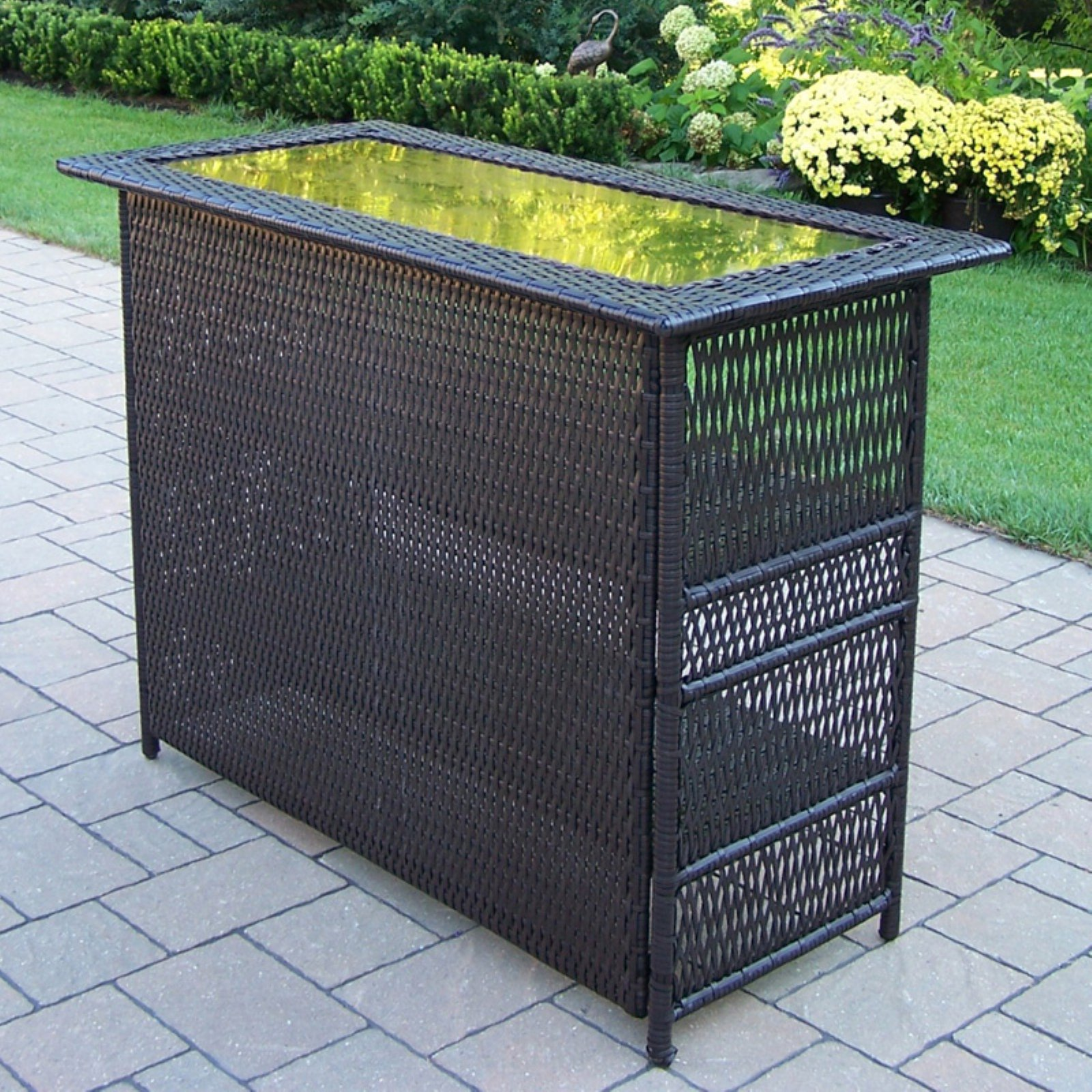 Oakland Living Elite All-Weather Wicker Bar Height Table