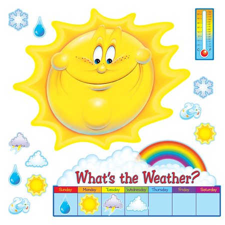 Trend Enterprises What's The Weather? Bulletin Board Set (39 Piece), 39-Piece set features a 29 wide beaming sun. Weather data chart introduces.., By Trend Enterprises (Column Chart With Two Sets Of Data)