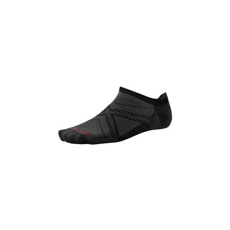 smartwool men's phd run ultra light micro socks (black/black) large