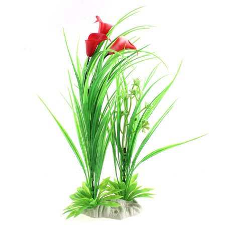 Unique Bargains Fish Tank Plastic Emulational Aquarium Plant Water Grass Ornament Decor 11.5 (Emulational Water)